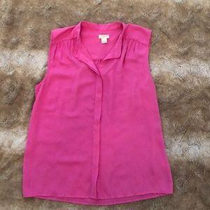 J. Crew pink sleeveless blouse size 6